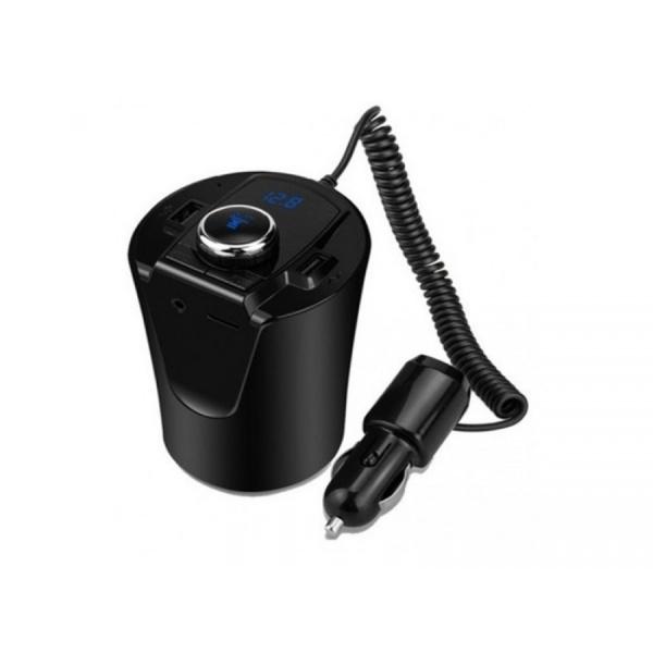Transmitator FM, BX6, 2xUSB, Bluetooth, Negru