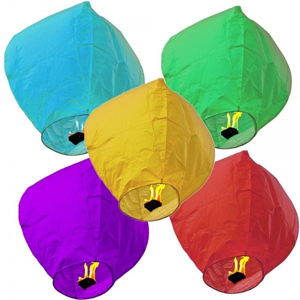 Set 5 lampioane zburatoare colorate