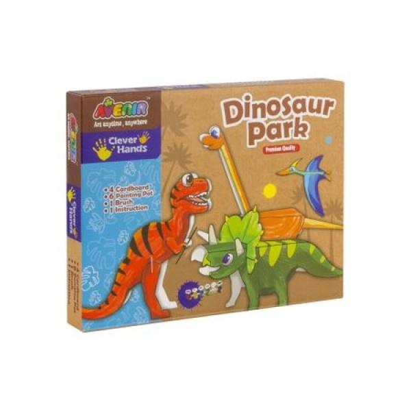Set de creatie Momki, Parcul dinozaurilor