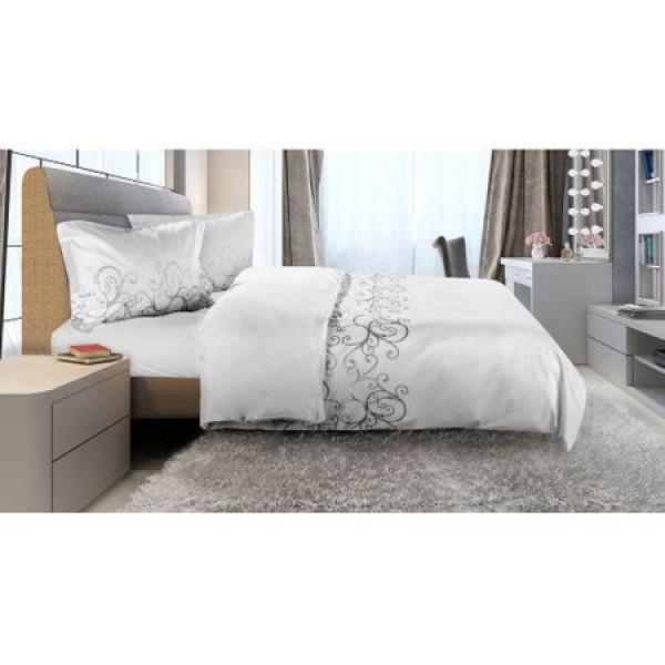 Lenjerie de pat pentru 2 persoane Blanca 100% bumbac, 4 piese