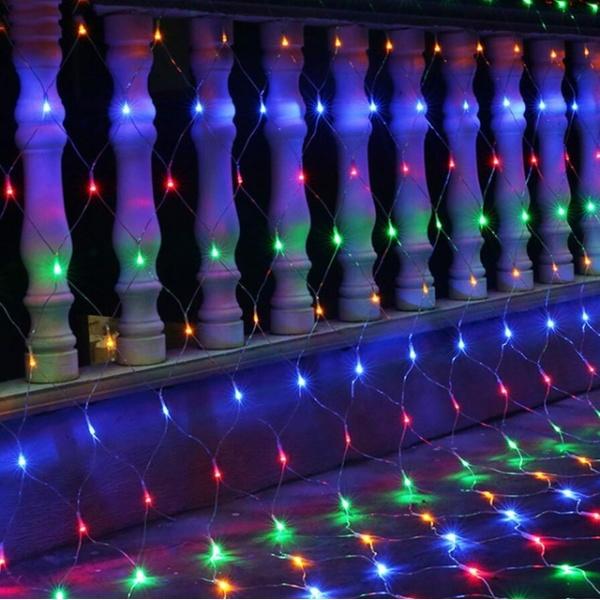 Instalatie de Craciun tip plasa multicolora 1.5 m X 1.5 m