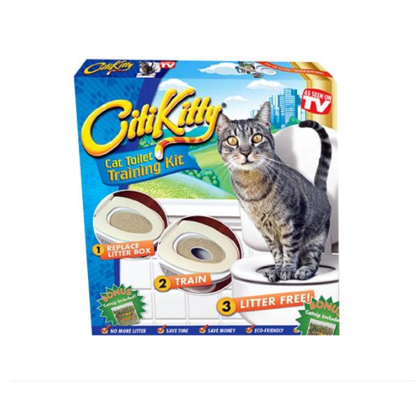 Kit pentru educarea pisicilor la toaleta Citi Kitty, 3 luni+