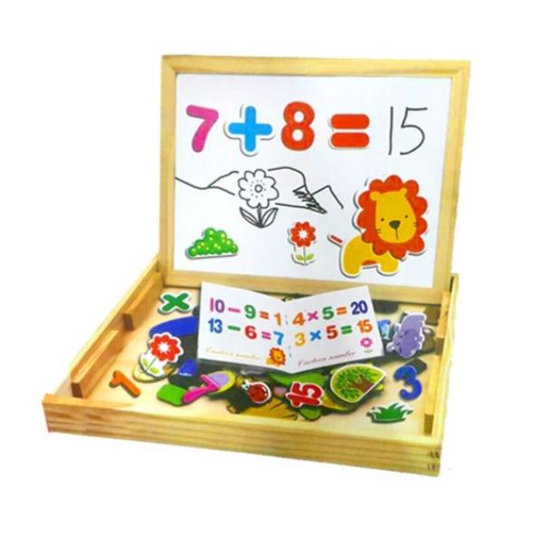 Puzzle educativ cu tablita magnetica