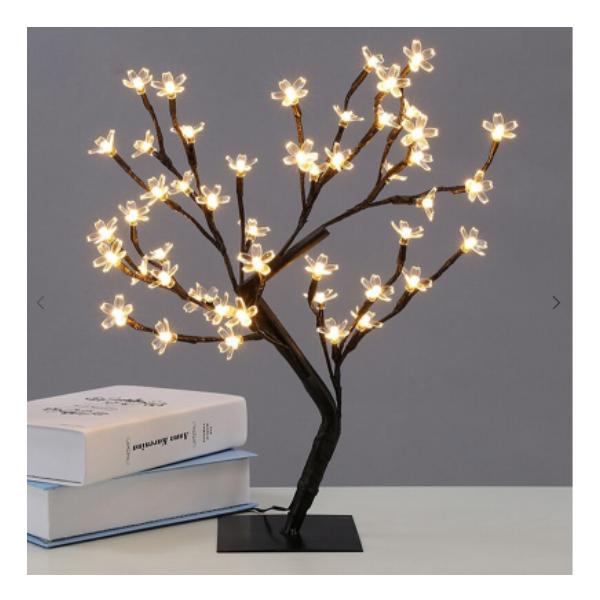 Copacel decorativ floricele LED 45cm alb rece/ alb cald / multicolor