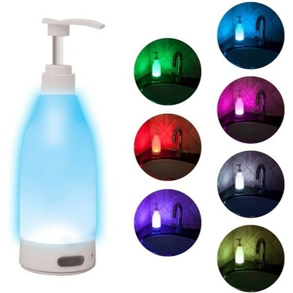 Dozator sapun cu lumina LED, senzor de miscare, 400ml