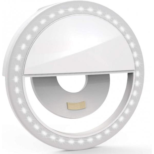 Selfie Ring Light, Lampa lumina portabila cu inel LED, selfie smartphone