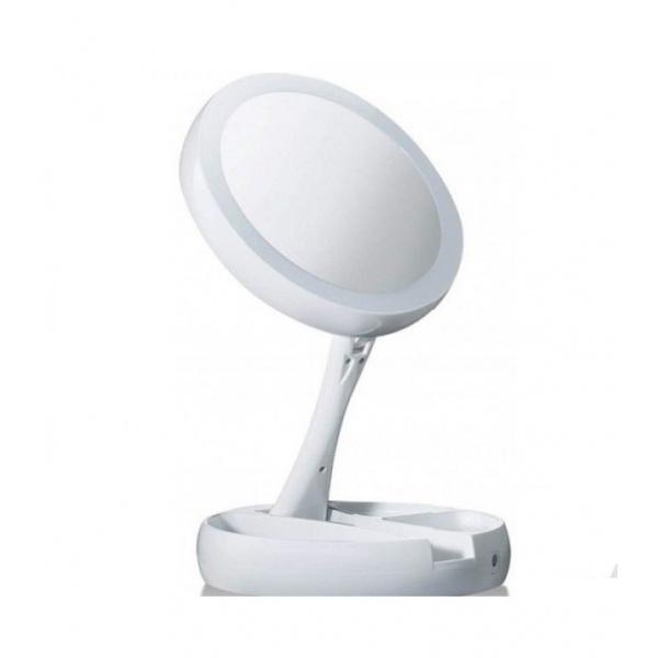 Oglinda rotunda cu LED pentru make-up