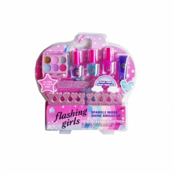 Kit manichiura si make-up pentru fetite