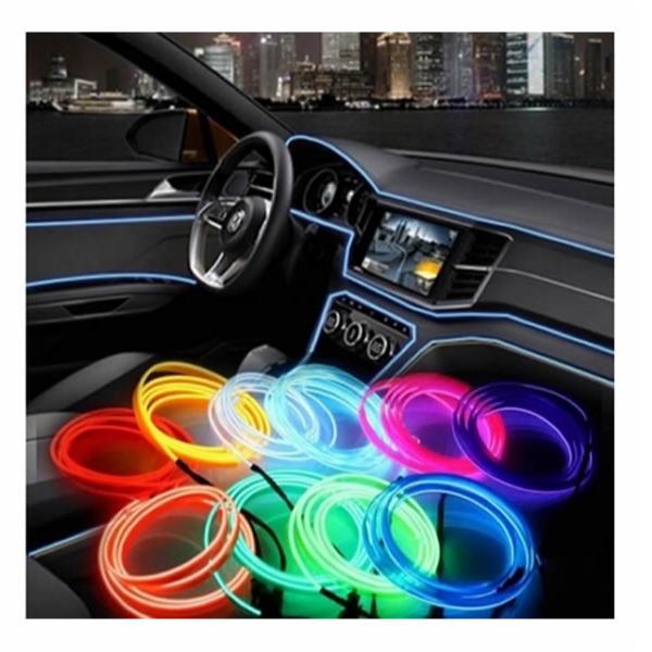 Banda decorativa auto LED 2 metri, pentru interior