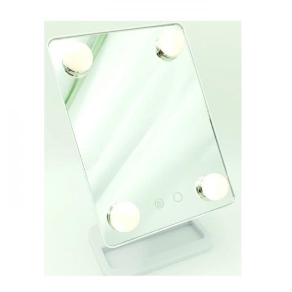 Oglinda cosmetica cu 4 LED-uri si touchscreen