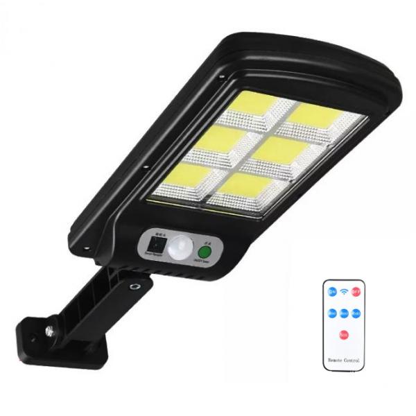 Mini proiector LED COB cu panou solar, senzor de miscare si telecomanda