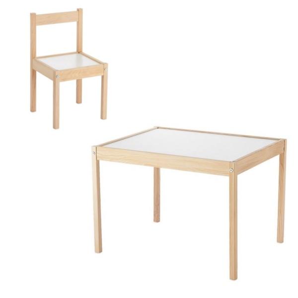 Set masuta si scaunel din lemn pentru copii