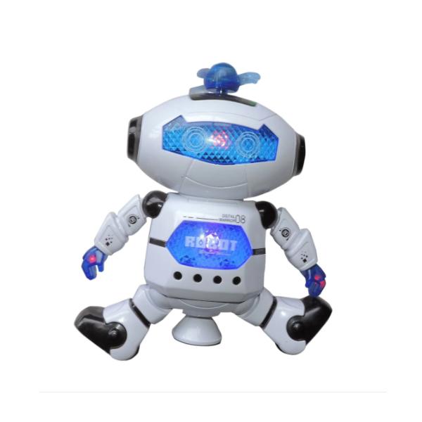 Robot dansator cu sunete si lumini, rotatie 360