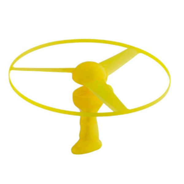 Jucarie disc zburator cu lansator si lumini, 30 cm