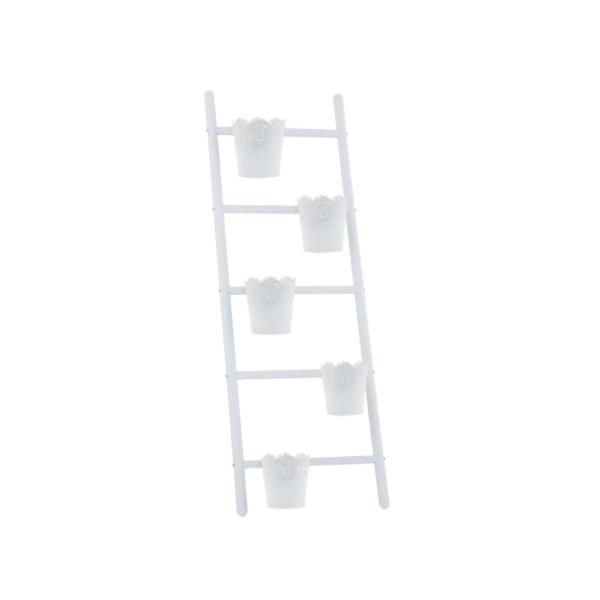 Scara decorativa pentru exterior, 39 x 127 cm, metal, 5 trepte, 5 ghivece