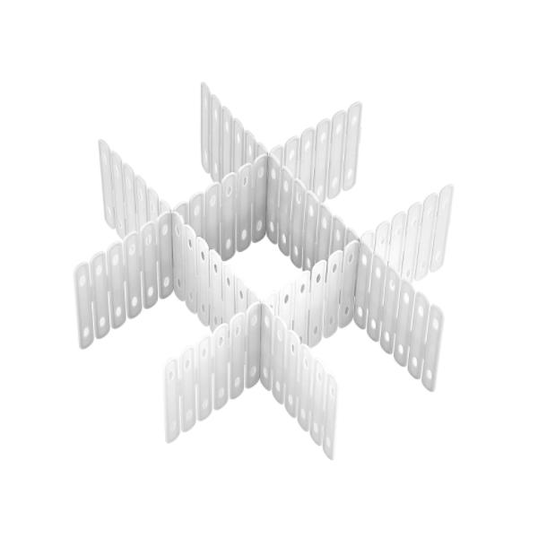 Set 3 x Separator sertar 49x14 cm, Alb