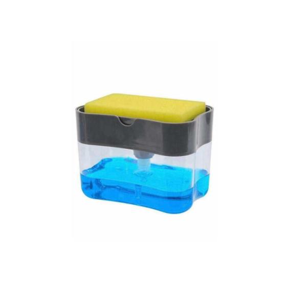 Pompa-dispenser 2in1 pentru sapun/detergent cu burete