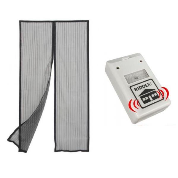 Perdea magnetica anti-insecte + Aparat cu ultrasunete anti-daunatori