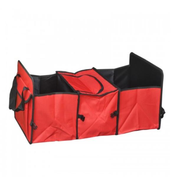 Organizator portbagaj cu compartiment termoizolant, pliabil, tip geanta