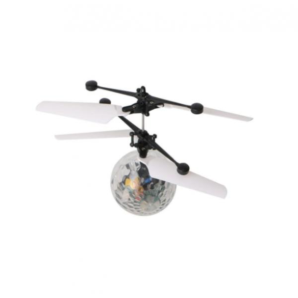 Mini drona/elicopter glob zburator cu senzori de inductie