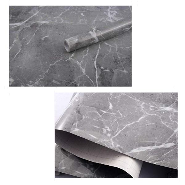 Folie autoadezive, imitatie marmura gri, 60 x 300 cm