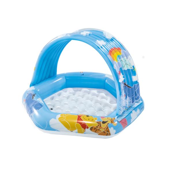 Piscina gonflabila pentru copii cu acoperis, Winnie, 109x102x71 cm