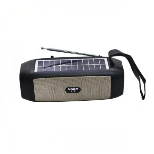 Boxa portabila S18 cu panou solar si lanterna, 15W