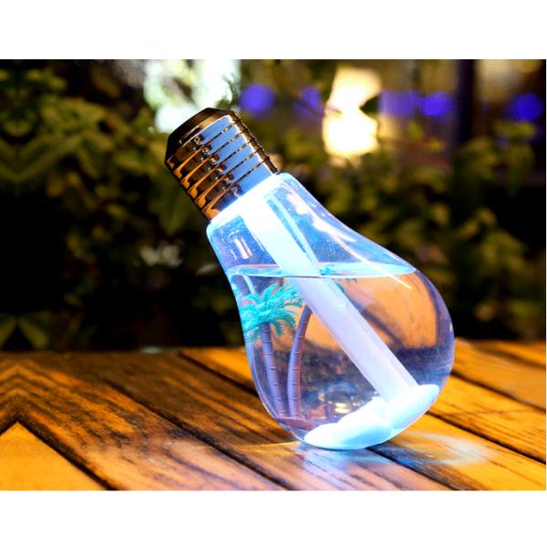Umidificator de aer, cu lampa LED - sub forma de bec