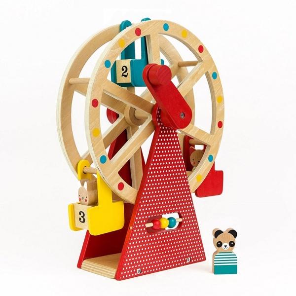 Roata de lemn Jucarie carnaval in miscare