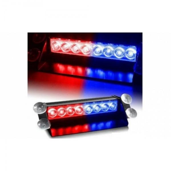 Lampa Stroboscop LED auto, rosu si albastru