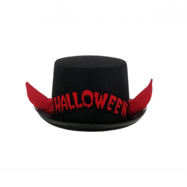 Palarie pentru deghizare Halloween, cornite rosii